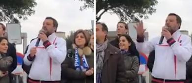 Salvini insultato da contestatore, lui risponde a tono: 'Torna a scuola' (video)