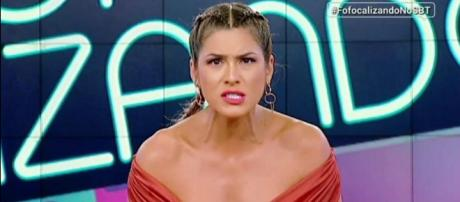 Livia Andrade no 'Fofocalizando' (Reprodução 'Fofocalizando' no SBT)