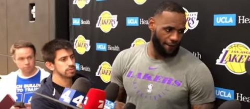LeBron James led Los Angeles Lakers to a win over Rockets - Image credit - Lakers Nation | YouTube