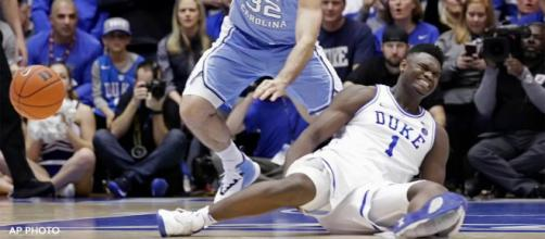 Nike is facing backlash over Zion Williamson suffers freak injury when his Nike shoe blows out. [Image Credit] 6ABC Action News - YouTube