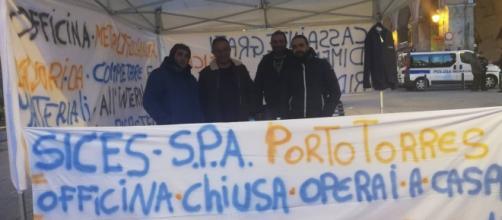 Sassari, protesta ex lavoratori Sices. Fonte: Pietro Serra