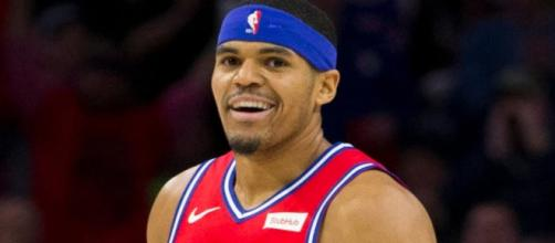 Tobias Harris helped lead the Sixers to a win on Thursday (Feb. 21). [Image via NBA on ESPN/YouTube]
