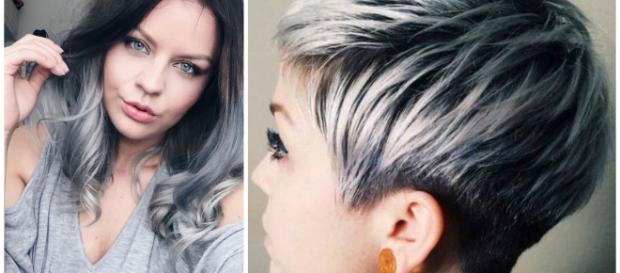 Tagli di capelli primavera  lo stile boyish e la tonalità argento 5a6c07eaaf4e