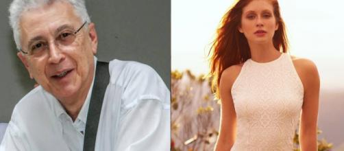 Aguinaldo Silva e Marina Ruy Barbosa (Reprodução/Facebook/Instagram)