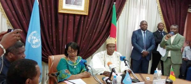 La directrice régionale de l'OMS Mme Matshidiso Moeti et le Minsanté Malachie Manaouda (c) Yahaya idrissou