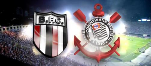 Botafogo-SP x Corinthians ao vivo (Reprodução site Meu Timão)