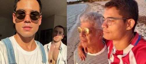 Bruno Gadiol e Lulu Santos com seus parceiros (Reprodução Instagram)