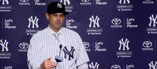 Aaron Boone appears to have thrown his support behind Clint Frazier. [Image Credit] ESPN - YouTube