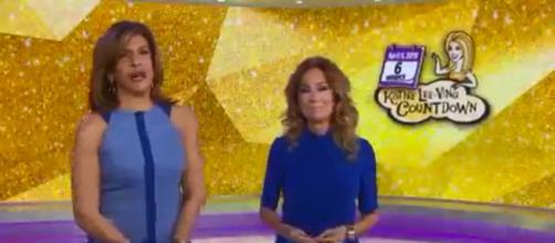 Hoda Kotb introduces another salute to Kathie Lee Gifford from friends on TV. [Image source:TODAY-YouTube]