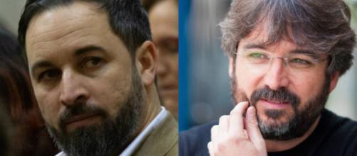 Santiago Abascal y Jordi Evole en imagen