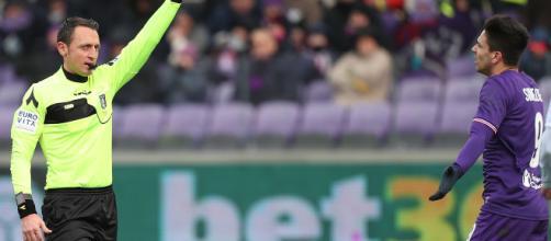 Fiorentina-Inter, l'arbitro Abisso fermato per almeno un mese dal designatore