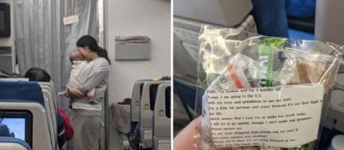 Una mamma ha regalato tappi ai passeggeri per non disturbarli.