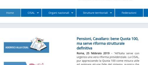 Pensioni flessibili, dalla Cisal si chiede di rendere strutturale la quota 100