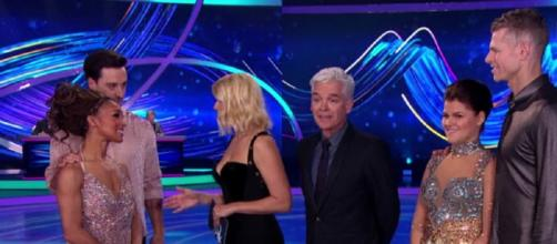 Two Celebs face the Skate-Off to earn their spot in this year's Semi-Final (Image credit: Dancing On Ice/ITVhub)