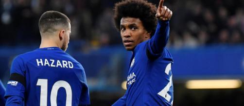 Willian e Hazard attualmente giocatori del Chelsea
