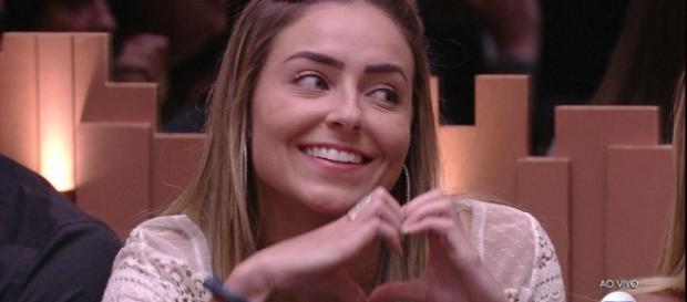 Paula na casa do BBB19 (Reprodução TV Globo)