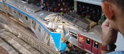 Colisão entre trens deixa 9 feridos (Reprodução/Twitter/ @OperacoesRio)