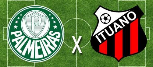 Palmeiras x Ituano ao vivo (Reprodução Canal Youtube Futebol ao Vivo)