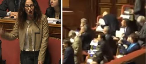 Taverna attacca il Pd: 'Inizino a vivere con 400 euro al mese', in aula è bagarre (VIDEO)