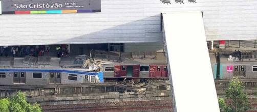 Trens colidem em uma estação da capital fluminense deixando 9 feridos. (Reprodução)