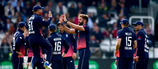 England West Indies lock horns for 4th ODI (Image via ICC/Twitter)