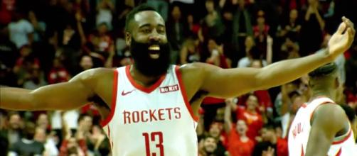 James Harden returned for the Rockets in their game at Charlotte on Wednesday (Feb. 27). [Image via NBA/YouTube]