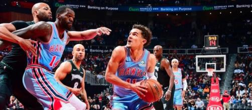 Trae Young was among the NBA's star players from Wednesday (Feb. 27) games. [Image via NBA/YouTube]