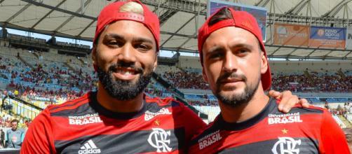 Gabigol e Arrascaeta prometem dar muitas alegrias ao torcedor flamenguista (Alexandre Vidal/Flamengo)