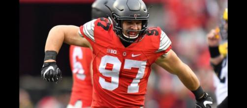 Nick Bosa looks to be a top five selection in the 2019 NFL Draft. [Image via Voch Lombardi/YouTube]