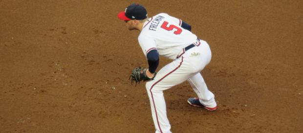Freddie Freeman finished fourth in National League MVP voting last year. [Image Source: Flickr | Bryan Green]