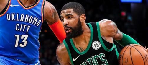 Kyrie Irving's 30 points on Sunday (Feb. 3) helped the Celtics defeat the Thunder. [Image via ESPN/YouTube screencap]