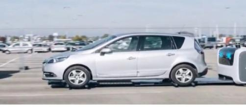 Robot valets will park your car at London's Gatwick Airport. [Image source/Life Car TV YouTube video]