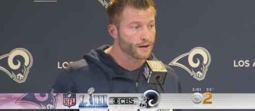 Sean McVay's revolutionary offense gameplan failed to win Super Bowl LIII [Image Credit] CBS Los Angeles - YouTube
