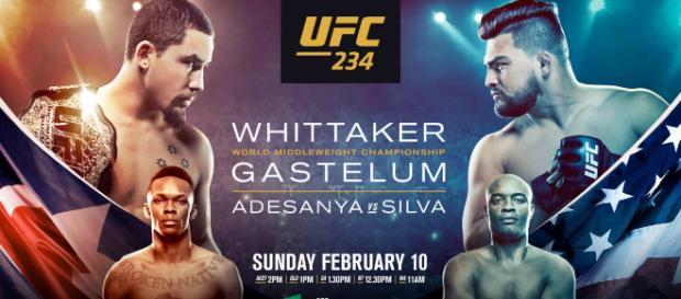 UFC 234 Melbourne: Whittaker vs Gastelum in diretta su DAZN