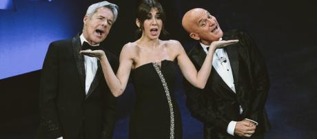 I tre conduttori di Sanremo 2019.