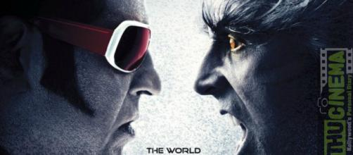 2.0 the poster showing Rajinikanth and Akshay kumar .Photo-image-( credit screenshot times channel/youtube.com)