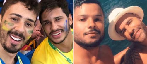 Carlinhos e Rodrigo apresentaram seus companheiros nas redes sociais. (Foto Reprodução)