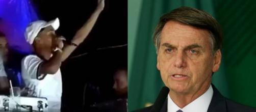 Funkeiro profere palavras ofensivas e ameaçadoras ao presidente Jair Bolsonaro (Reprodução/Facebook)