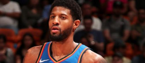 OKC received 39 points from Paul George in a win over Orlando on Tuesday (Feb. 5). [Image via ESPN/YouTube]