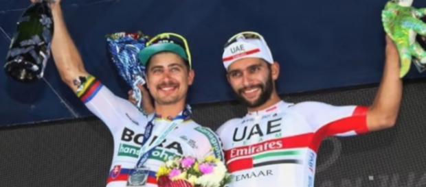 Peter Sagan e Fernando Gaviria sul podio della Vuelta San Juan