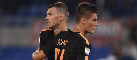 Edin Dzeko e Patrick Schick, attaccanti della Roma