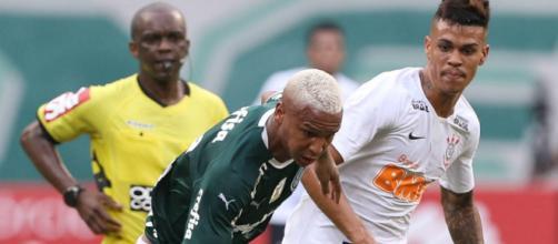 Cuspara de Deyverson rendeu severas críticas. (Divulgação/Cesar Greco/SEPalmeiras)