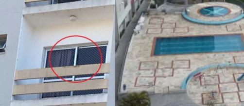 Menina é deixada sozinha em apartamento e cai do quarto andar do prédio (Reprodução TV TEM/Google Street View)