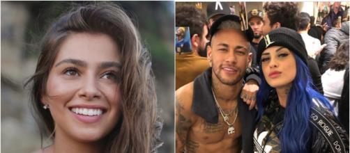 Neymar teria ficado com as duas (reprodução Instagram Gabriella / Instagram Tati Zaqui)