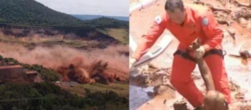 Tragédia em Brumadinho. (Reprodução TV Globo/RecordTV)
