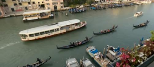 Venice plans to tax day-trippers. [Image source/CBS Evening News YouTube video]