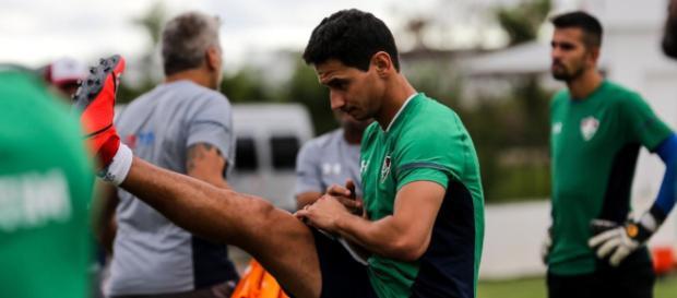Ganso treinou pela primeira vez com os demais companheiros (Divulgação/Twitter/@FluminenseFC)