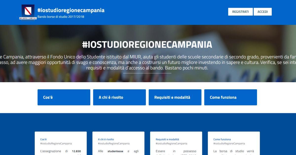 fd3fe324de Borse di studio per gli studenti, bando della Regione Campania: domande dal  21 febbraio