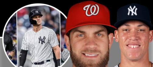 Aaron Judge wants Bryce Harper to be a Yankee [ Image Credit] Fuzzy - YouTube