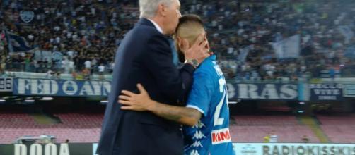Carlo Ancelotti e Lorenzo Insigne